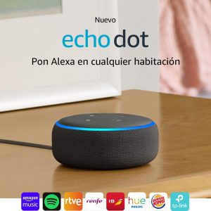 altavoz amazon echo dot en negro