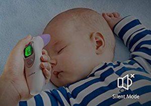 termómetro digital para bebés mide temperatura niño durmiendo