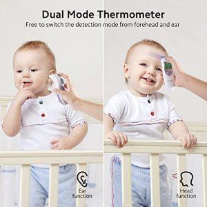 termómetro digital para bebés mide temperatura frente u oído